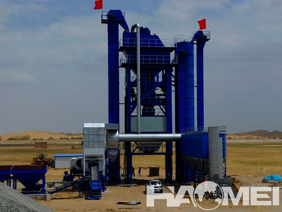 asphalt mixing plant for road construction