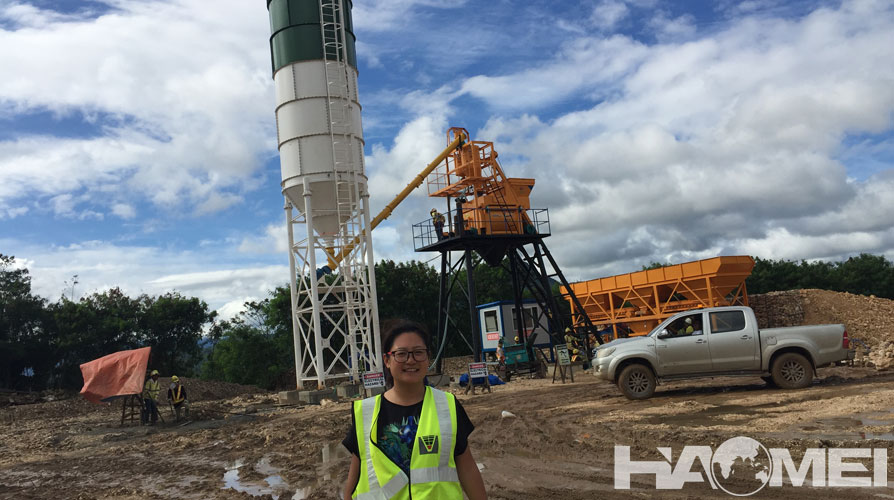 wet batch concrete plant in Philippine