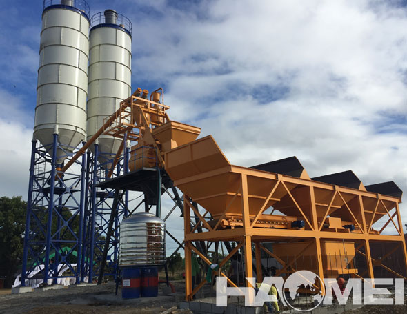 HZS75 Concrete Batching Plant To The Philippines