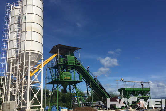 Stationary Concrete Batching Plant in Manila