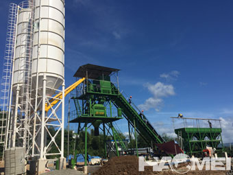 stationary concrete batching plant price