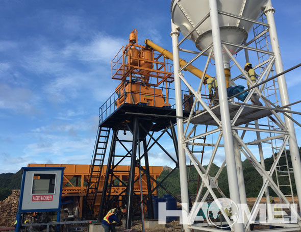 Twin Shaft Mixer Batching Plant In Philippines
