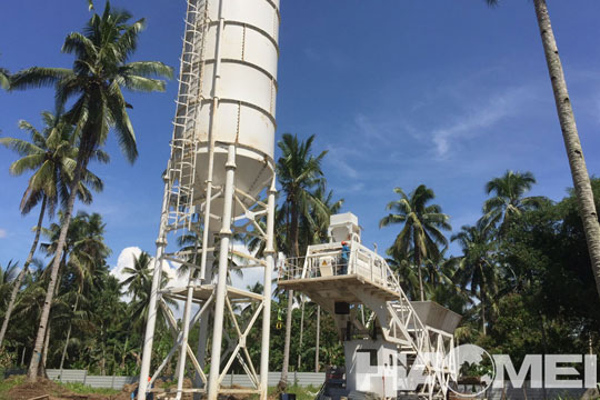 YHZS60 Mobile Concrete Batching Plant in Davao The Philippines