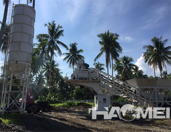 HAOMEI mobile concrete batching plant In Davao City