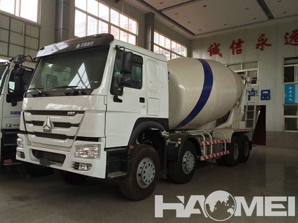 size of concrete mixer truck