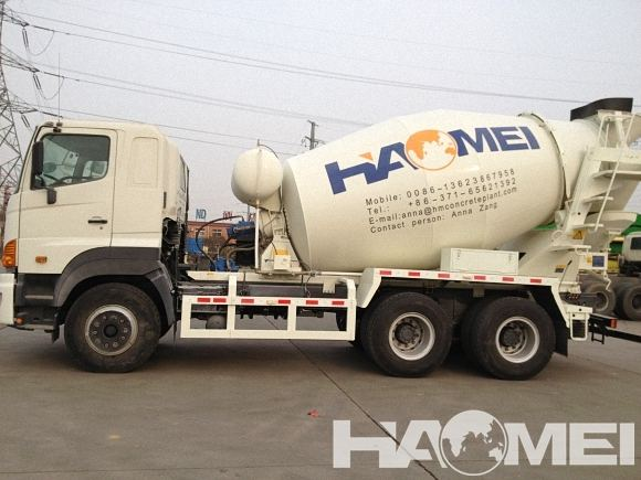 volume of concrete mixer truck