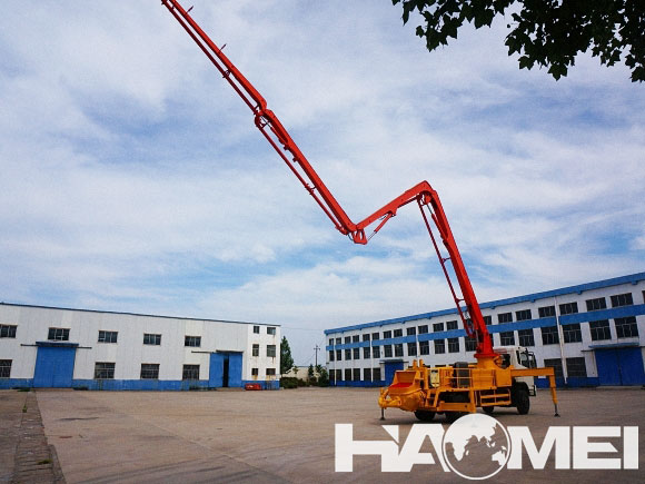 concrete pump truck boom length