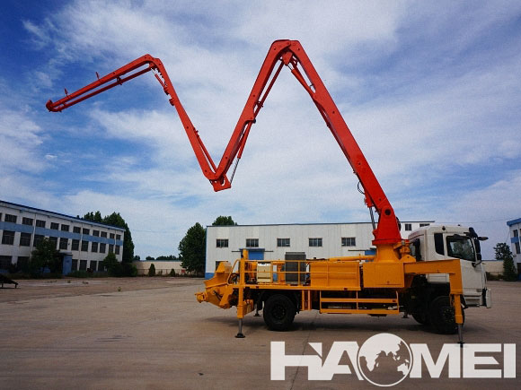 concrete pump truck hopper