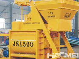 twin shaft concrete mixer factory