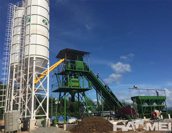 wet mix concrete batch plant factory