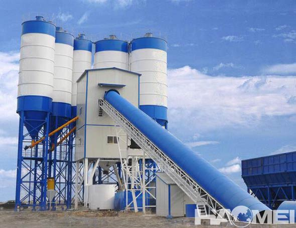 stationary concrete mixer plant made in china