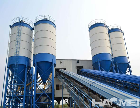 china stationary concrete mixer plant