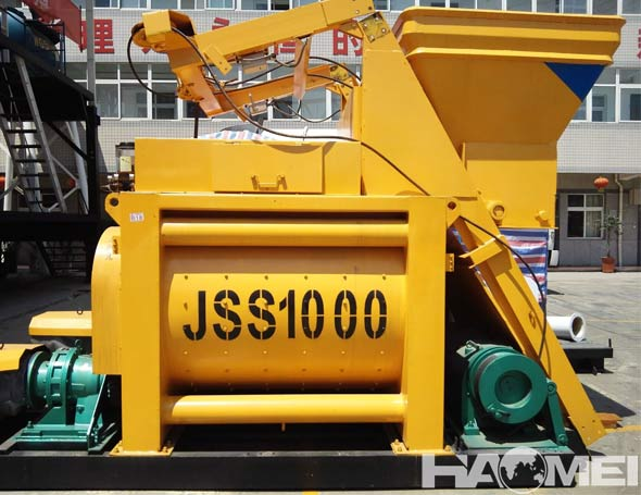 js double shaft concrete mixer equipment