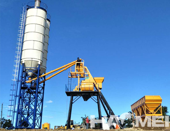 Wet Mix Batch Plant in Infrastructure Construction in the Philippines