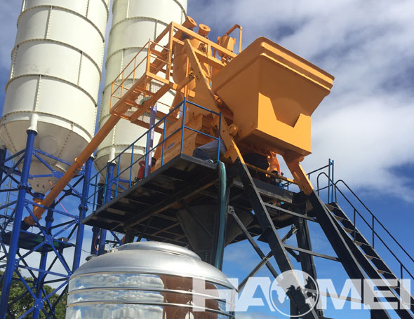 concrete batching plant HZS75