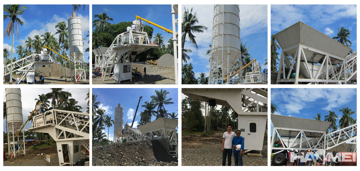 yhzs60 mobile wet concrete batching plant
