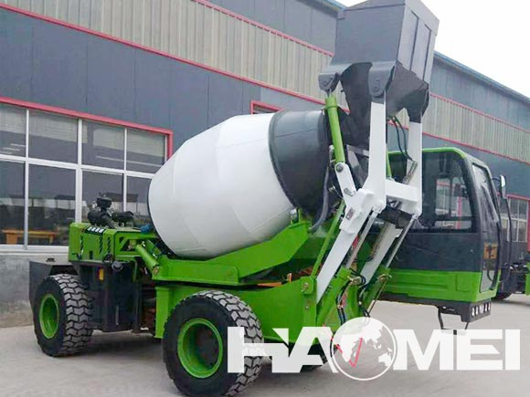 self loading cement mixer truck