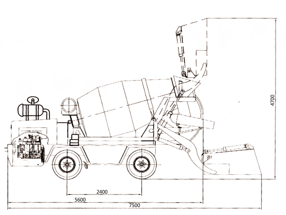 self loading concrete mixer price indonesia