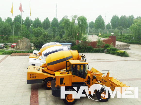 self loading concrete transit mixer truck