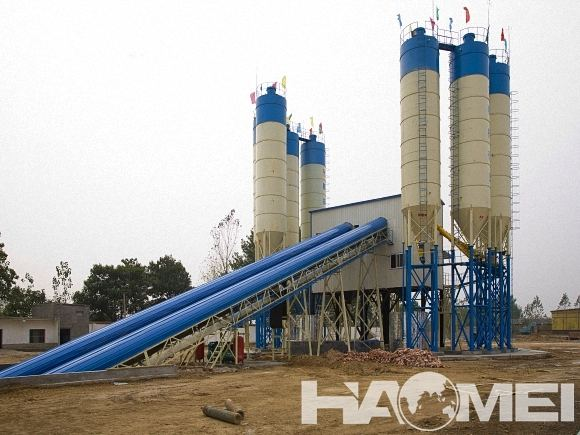 stationary mixed concrete plant
