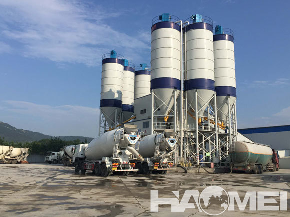 high efficient concrete batching plant