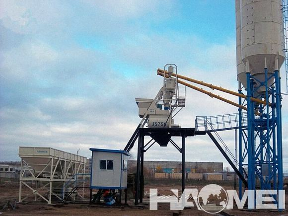 low cost concrete batching plant machine exported