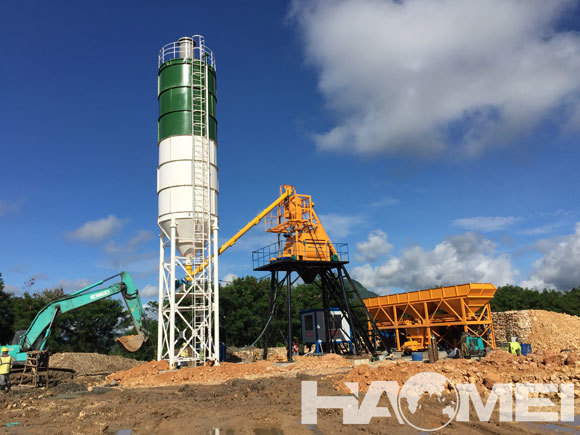 skip type concrete batching plant