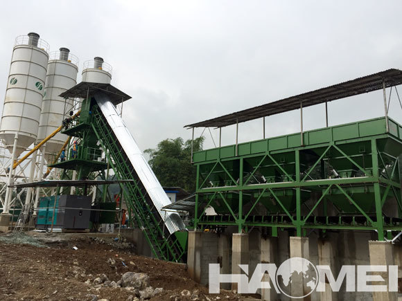 hzs60 cement concrete mixing plant