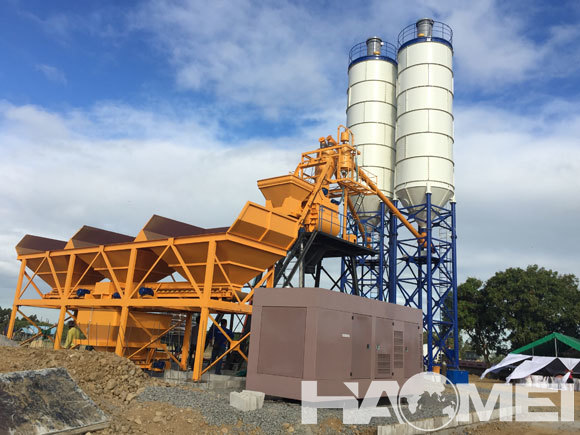 types of concrete batching plants