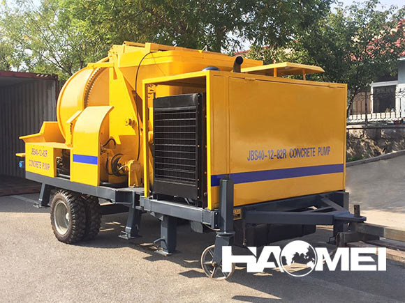 concrete mixer with pump machine price