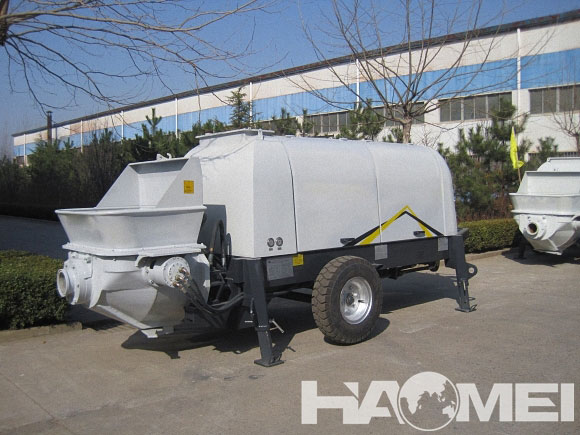 concrete pump trailer business