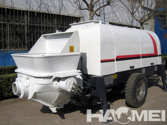 concrete pump trailer mounted