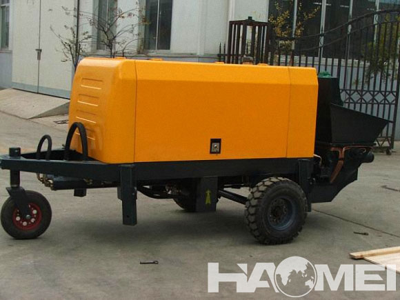 concrete trailer line pump